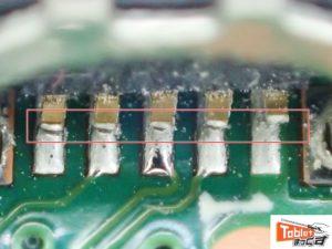 Transbook T102HA 破損部 拡大写真