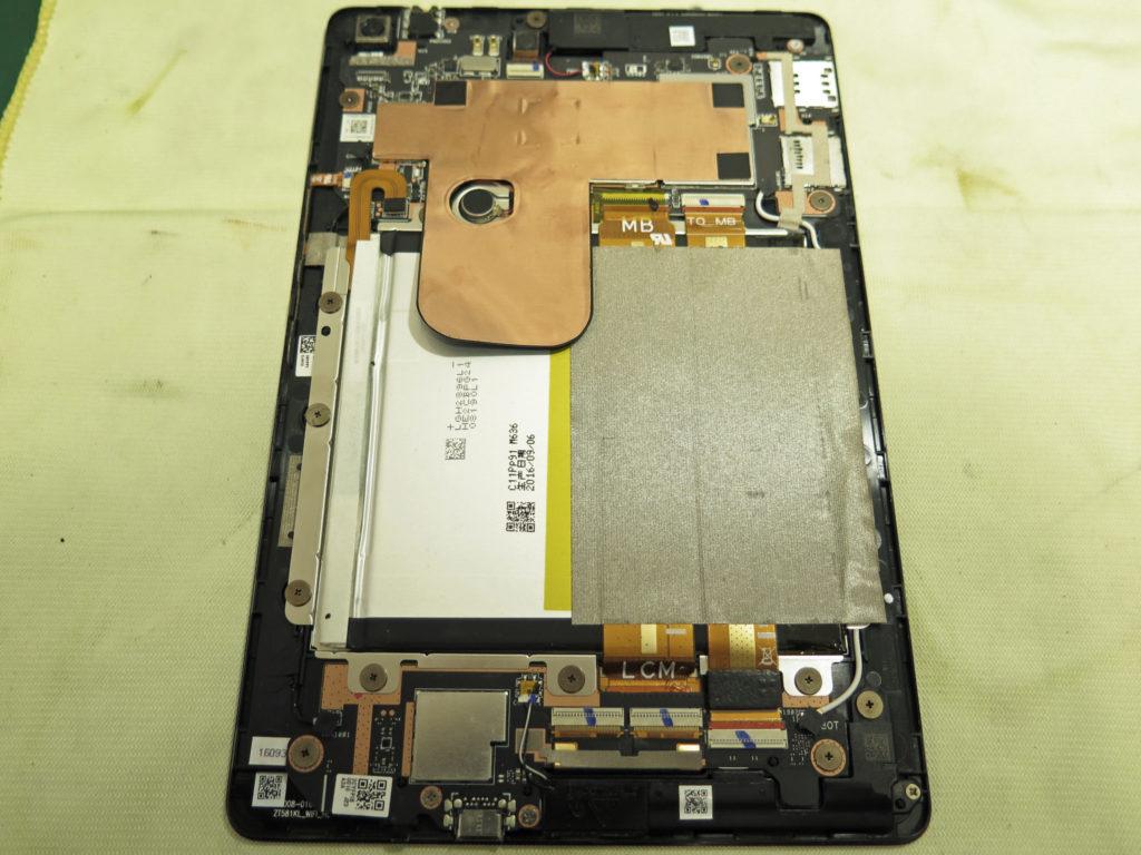 ASUS ZenPad 3 8.0 (Z581KL) リアパネル分解