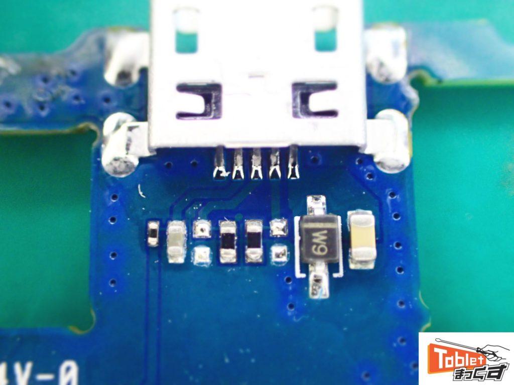 CHUWI Hi9 Air USBコネクタ実装