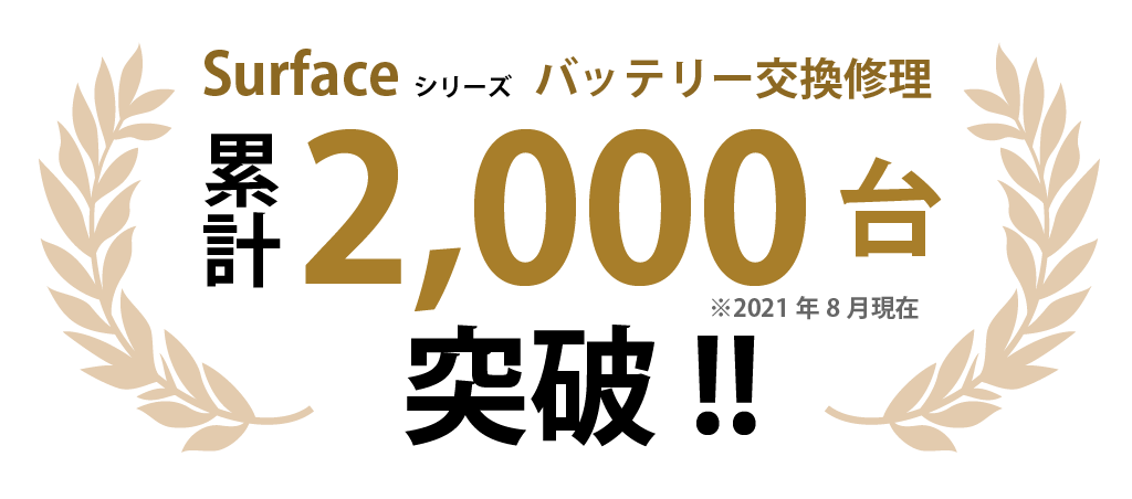 Surfaceシリーズバッテリー交換2,000台突破